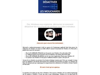 DÉSACTIVER L'ESPIONNAGES DE WINDOWS