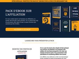 Pack ebook affiliation