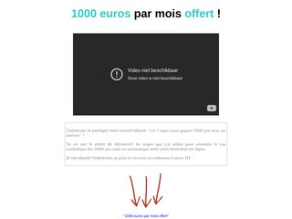 1000 euros par mois offert