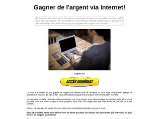 De l'argent via Internet