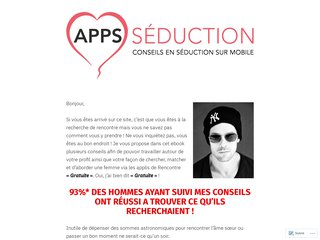 Apps Séduction : Conseils en séduction sur mobile