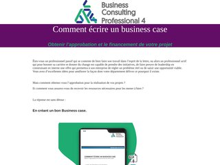 Comment écrire un business case