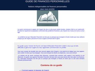 Guide de Finances Personnelles