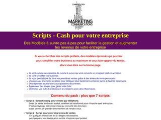 Scripts - Cash pour votre entreprise