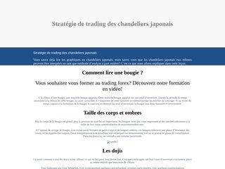 Stratégie de trading des chandeliers japonais