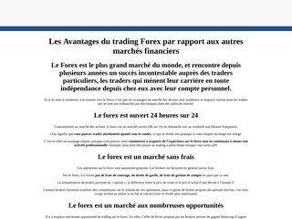 Les Avantages du trading Forex par rapport aux aut