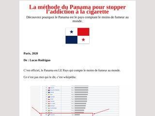 La méthode Panama pour arrêter de fumer