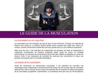 Le guide de la musculation