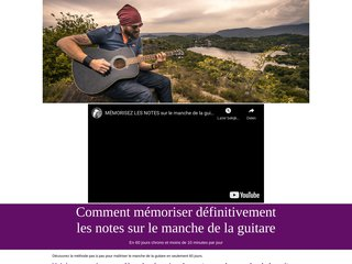 Mémorisez les notes de guitare en 60 jours chrono