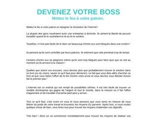 Ebook - Devenez votre boss