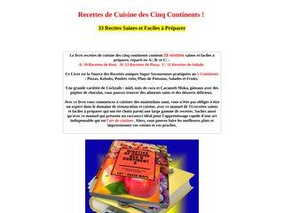 RECETTES DES CINQ CONTINENTS