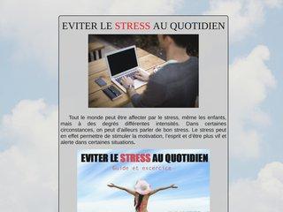 EVITER LE STRESS AU QUOTIDIEN