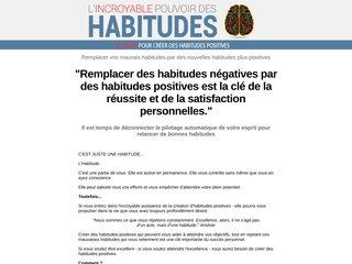 L'INCROYABLE POUVOIR DES HABITUDES
