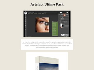 ARTEFACT ULTIME PACK action Photoshop