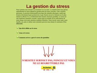 La gestion du stress : Que dit la Bible du stress