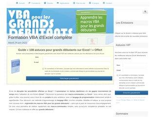 Tri-Pack: Apprendre Excel + VBA + TCD faciles