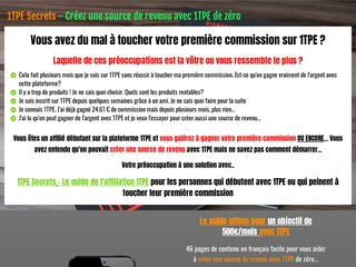1TPE Secrets - Objectif 500 Euros / mois avec 1TPE