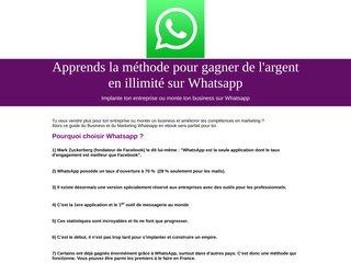 Comment gagner de l'argent grâce à Whatsapp ?