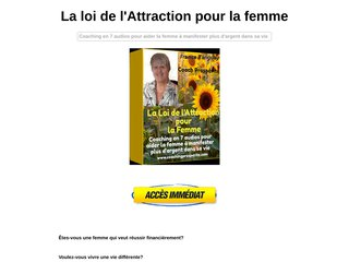 La Loi de l'Attractiion pour la Femme
