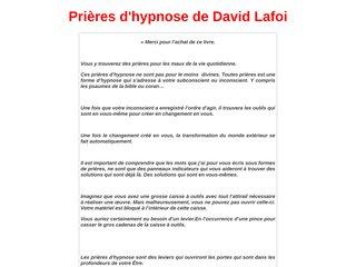 Les prières d'hypnose de David Lafoi