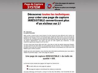 Page de capture system
