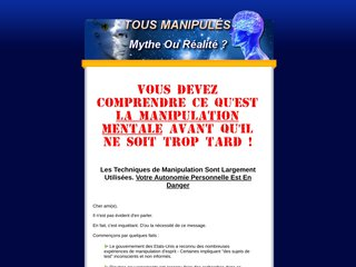 La Manipulation - Mythe ou Réalité