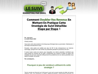 Le Suivi Marketing Par E-mail