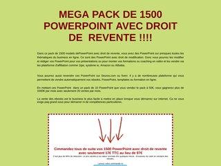 MEGAPACK DE 1500 PowerPoint AVEC DROIT DE VENTE