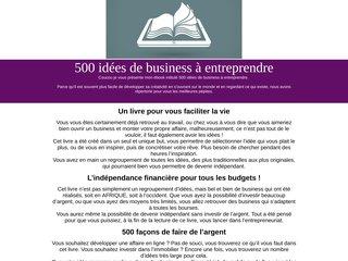 500 idées de business à entreprendre