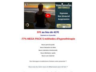 -77% MEGA PACK - 5 méthodes d'hypnothérapie