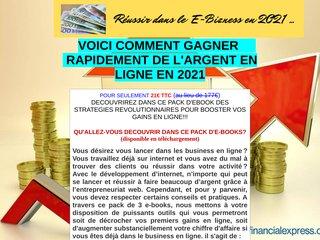 REUSSIR DANS LE E-COMMERCE EN 2021