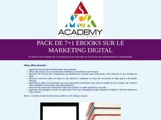 Pack de 7+1 ebooks sur le marketing digital