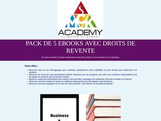 Pack de 5 ebooks avec droits de revente