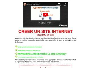 Apprendre à créer un site internet en html et css