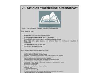 25 Articles Médecine alternative