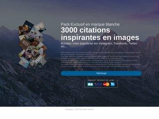 Pack de 3000 citations en images