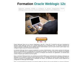 Formation Oracle Weblogic Server