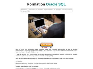 Formation Oracle SQL