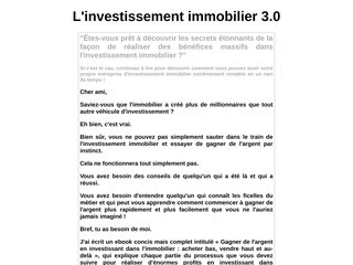 investissement immobilier 3.0
