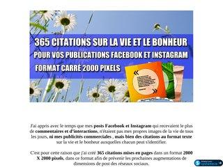 365 Citations pour vos Réseaux Sociaux