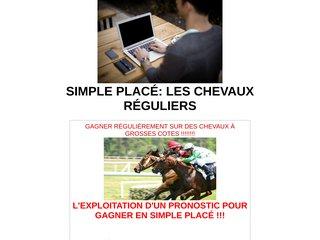 SIMPLE PLACÉ: LES CHEVAUX RÉGULIERS