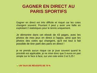 GAGNER EN DIRECT AUX PARIS SPORTIFS