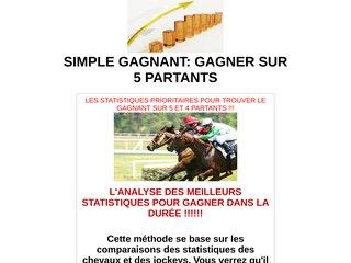 SIMPLE GAGNANT: GAGNER SUR 5 PARTANTS