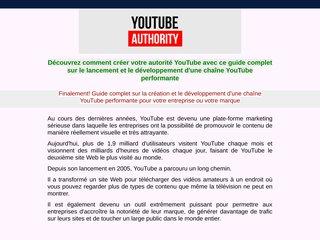 Autorité Youtube ( prix promotionnel )