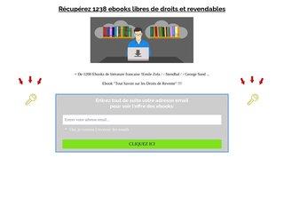 1238 EBOOKS en français revendables (littérature)