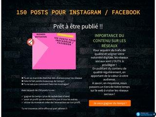 150 Post pour Instagram et Facebook