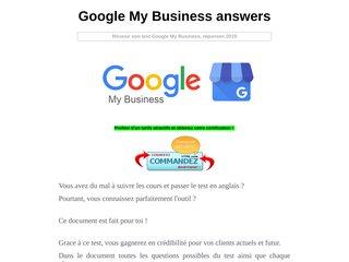 Google My Business Basics Assessment answer 2019