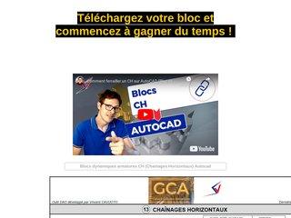 Blocs dynamiques armatures CH Autocad