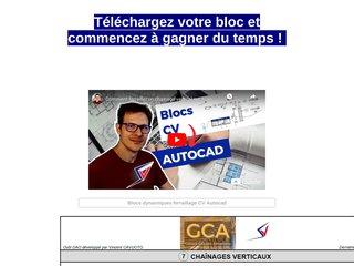 Blocs dynamiques armatures CV Autocad