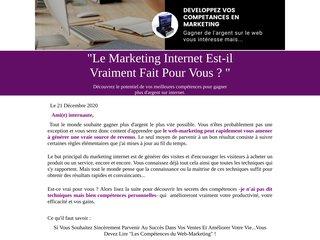 les compétances du marketing sur internet